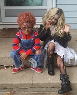 Chucky and Bride of Chucky Kids Homemade Costume