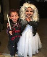 Chucky and Chucky Bride Kids Homemade Costume