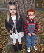 Chucky and the Bride Kids Homemade Costume