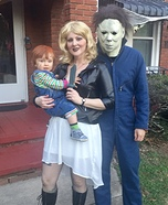 Chucky, Tiffany and Michael Myers Homemade Costume
