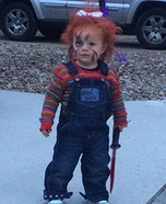 Chucky with a Bow Homemade Costume