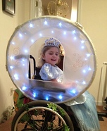 Cinderella and her Enchanted Carriage Halloween Wheelchair Costume