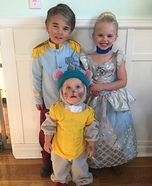 Cinderella, Prince Charming, and Gus Gus Homemade Costume