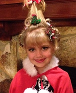 Halloween costume ideas for girls: Cindy Lou Who Homemade Costume