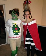 Cindy Lou Who and The Grinch Homemade Costume