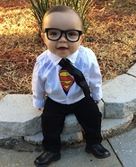 Cute baby costume ideas: Clark Kent Homemade Costume