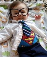 Easy Clark Kent Baby Costume