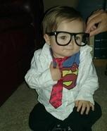 DIY Clark Kent Baby Costume