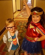 Clark Kent and Wonder Woman Homemade Costume