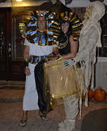 Cleopatra and Her Mummy Homemade Costume
