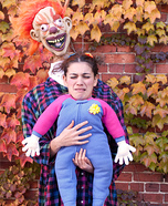 Clown & Baby Homemade Costume
