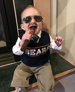 Coach Ditka Baby Homemade Costume