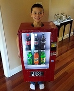 Coca-Cola Vending Machine Homemade Costume