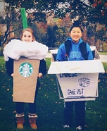 Coffee & Takeout Homemade Costume