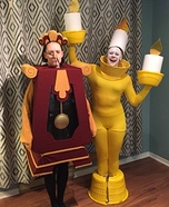 Cogsworth and Lumiere Homemade Costume