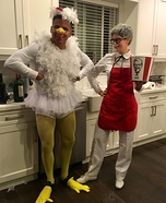 Colonel Sanders and Dinner Homemade Costume