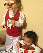 DIY baby costume ideas: Colonel Sanders and his Bucket of Chicken Costume