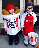 Colonel Sanders and his Bucket of Chicken Homemade Costume