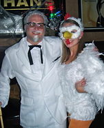 Colonel Sanders and his Chick Couple Halloween Costume