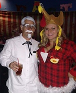 Colonel Sanders and his Chicken Breasts Homemade Costume