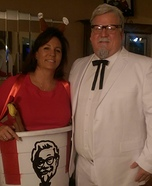 Colonel Sanders and his personal Bucket Homemade Costume