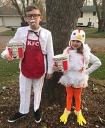 Colonel Sanders and the Chicken Homemade Costume