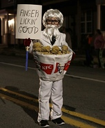 Colonel Sanders in a Bucket of Chicken Homemade Costume