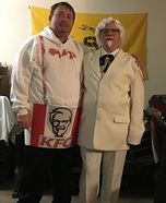 Colonel Sanders & his Bucket of Chicken Homemade Costume