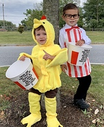 Colonel Sanders & his Chicken Homemade Costume