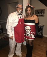 Colonel Sanders with Bucket of Chicken Homemade Costume