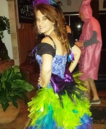 Colorful Peacock Homemade Costume