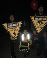 Construction Site Family Homemade Costume