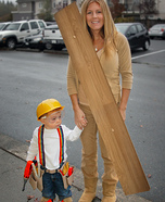 Construction Worker & Wood Homemade Costume