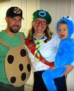 Cookie Addiction Family Homemade Costume