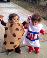 Cookies & Milk Homemade Costume