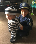Cop and Prisoner Homemade Costume