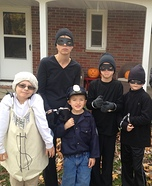Cop and Robbers Family Homemade Costume