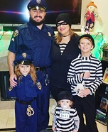 Cops and Robbers Homemade Costume