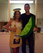 Corona & Lime Homemade Costume