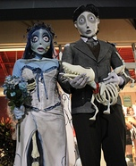 Couples Halloween costume idea: Corpse Bride and Groom Couple Costume