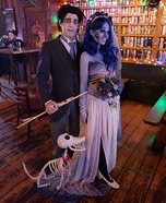 Corpse Bride and Scraps Homemade Costume
