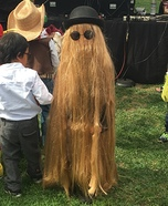 DIY Cousin Itt Costume