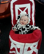 Cow in a Barn Baby Costume