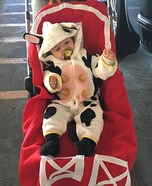 Cow in the Barn Homemade Costume