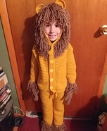 Cowardly Lion from Wizard of Oz Homemade Costume