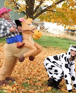 Cowboy and Cow Couple Costume