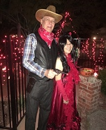 Cowboy and Saloon Girl Homemade Costume