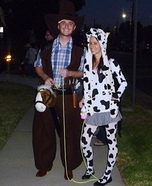 Cowboy & Girl Cow Costume