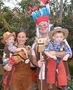 Cowboys and Indians Family Homemade Costume