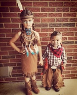 Cowboys and Indians Kids Homemade Costume